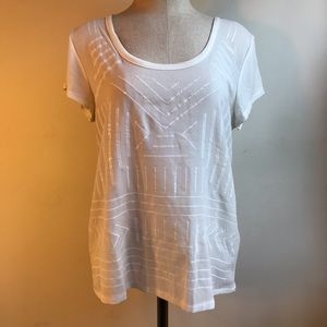 White Sequin Embellished Tee
